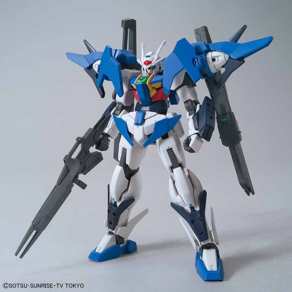 Bandai 1/144 HGBD Gundam 00 Sky front on view.