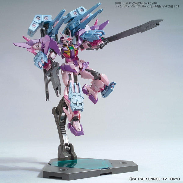Bandai 1/144 HG Gundam 00 Sky HWS Trans-Am action pose