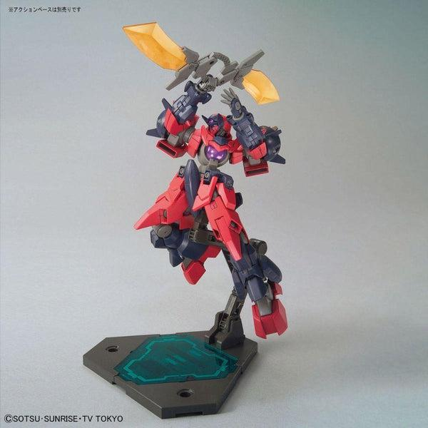 Bandai 1/144 HGBD Ogre GN-X swords above head pose