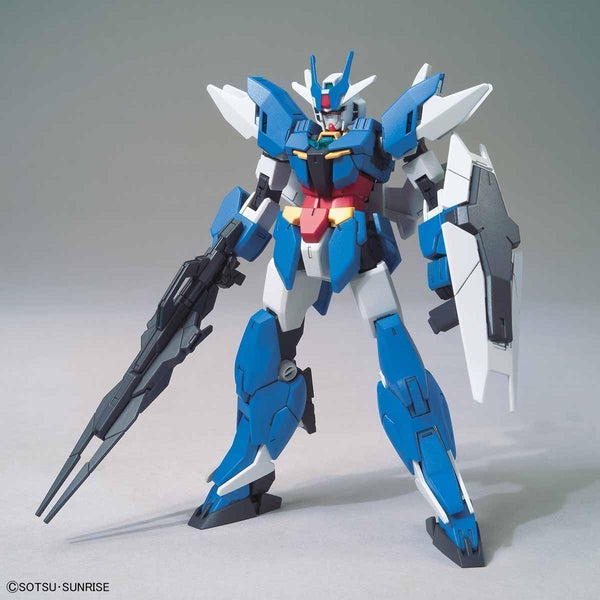 Bandai 1/144 HGBD:R Earthree Gundam front on pose