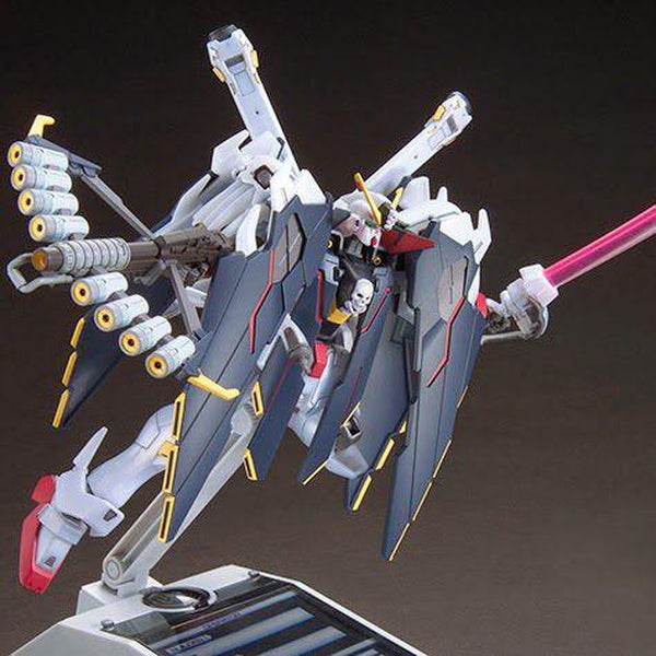 Bandai 1/144 HGBF Crossbone Gundam X1 Full Cloth Type GBFT action pose with crossbow