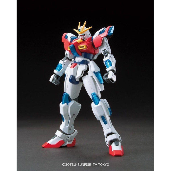 Bandai 1/144 HG BF Try Burning Gundam front view without flames