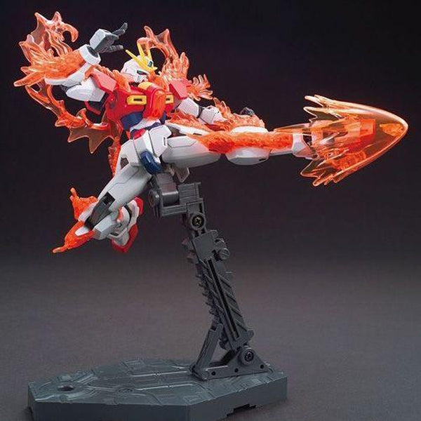 Bandai 1/144 HG BF Try Burning Gundam action pose