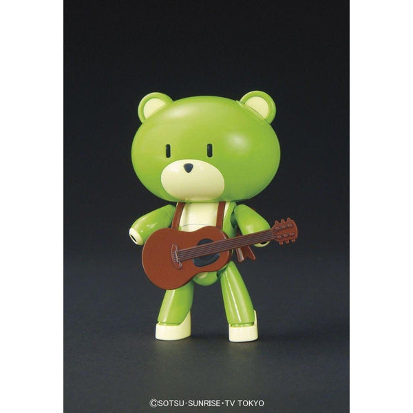 Bandai 1/144 HG Petit'gguy Surf Green and Guitar front on