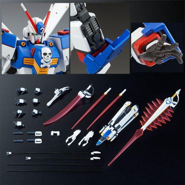 P-Bandai 1/144 HGUC 1/144 Crossbone Gundam X3 [Reissue] features and inclusions