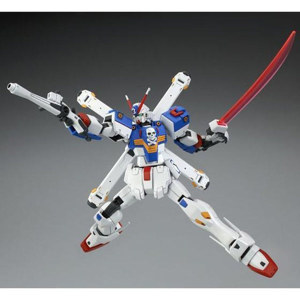 P-Bandai 1/144 HGUC 1/144 Crossbone Gundam X3 [Reissue] action pose with weapons