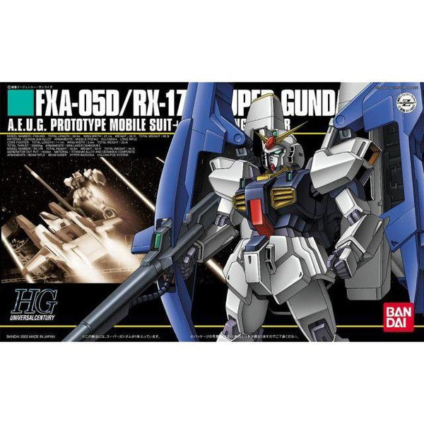 Bandai 1/144 HGUC FXA-05D/RX-178 Super Gundam package art