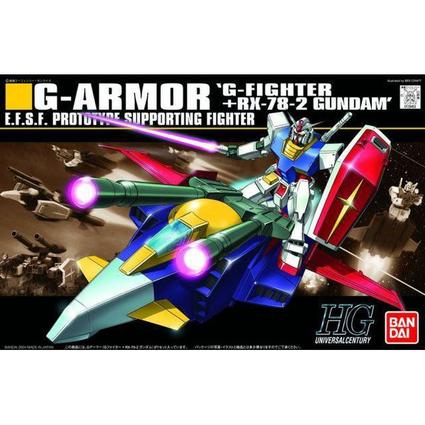 Bandai 1/144 HGUC G-Armor (G-Fighter + RX-78-2 Gundam) package art