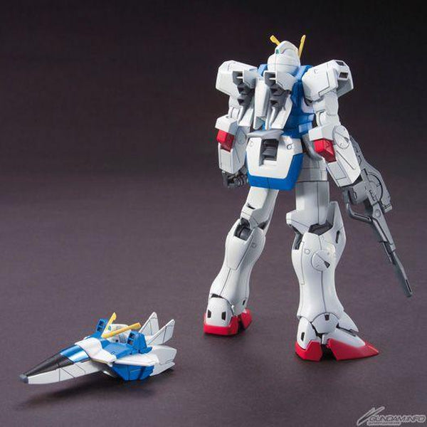Bandai 1/144 HGUC LM312V04 Victory Gundam rear view with core fighter