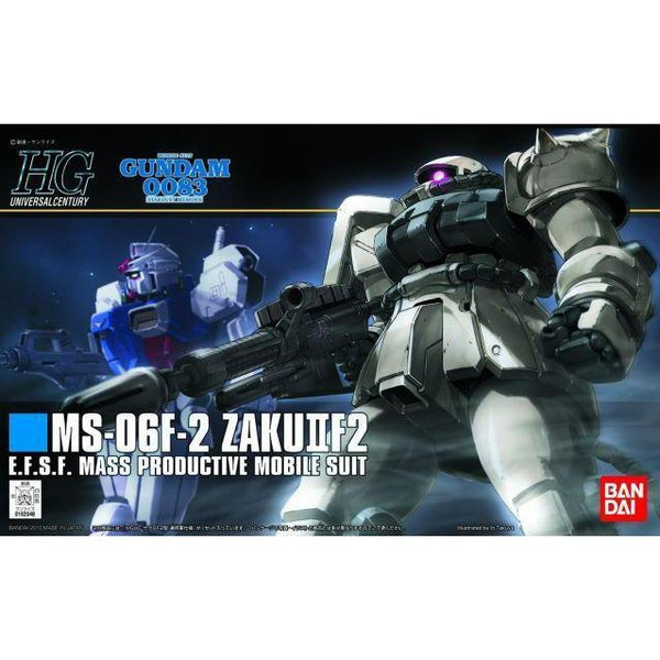 Bandai 1/144 HGUC MS-06F-2 F2-Zaku (Earth Fed. Type) package art