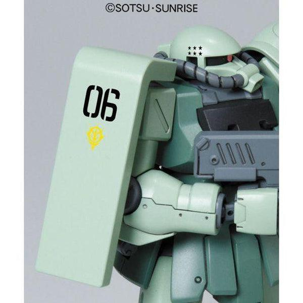 Bandai 1/144 HGUC MS-06F-2 Zaku F2 ZEON close up rh shoulder
