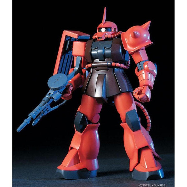 Bandai 1/144 HGUC MS-06S Zaku II Char's Custom front on pose