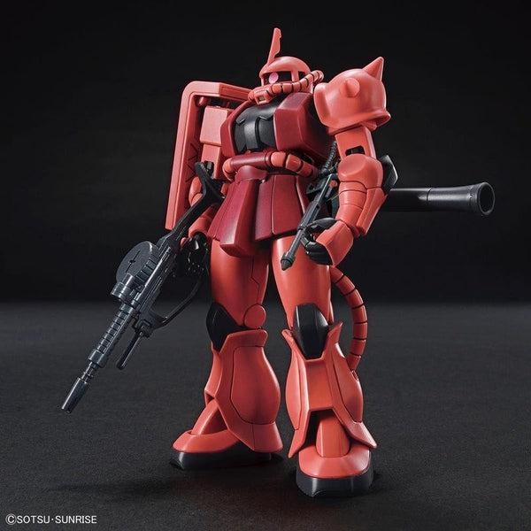 Bandai 1/144 HG MS-06S Zaku II (40th Anniversary) front on view.