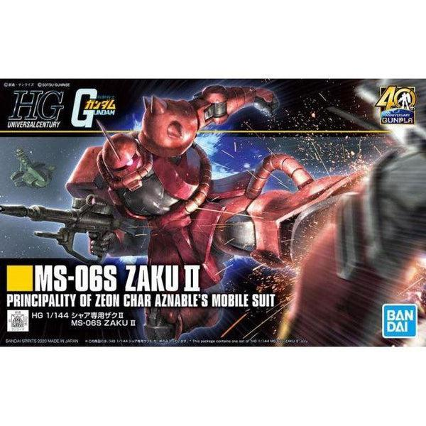 Bandai 1/144 HG MS-06S Zaku II (40th Anniversary) package artwork