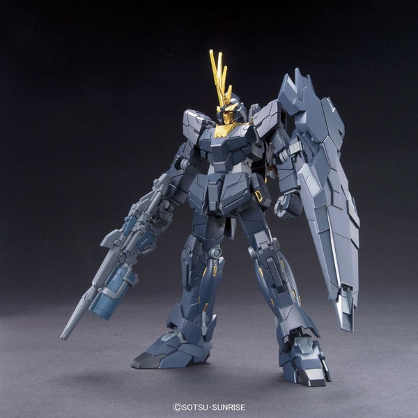 Bandai 1/144 HGUC RX-0[N] Unicorn Gundam 02 Banshee Norn (Unicorn Mode) front on view.