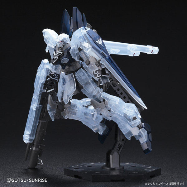 P-Bandai 1/144 HGUC MSN-06S-2 Sinanju Stein [NARRATIVE VER.] [CLEAR COLOR] action pose