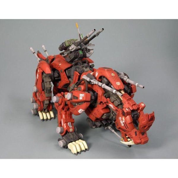 Kotobukiya 1/72 Zoids HMM EZ-016 Saber Tiger Markings Plus Ver. front on view. 1