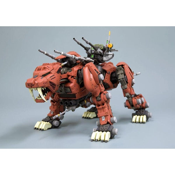 Kotobukiya 1/72 Zoids HMM EZ-016 Saber Tiger Markings Plus Ver. front on view. 2