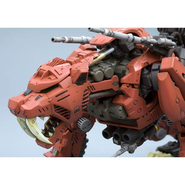 Kotobukiya 1/72 Zoids HMM EZ-016 Saber Tiger Markings Plus Ver. close up head