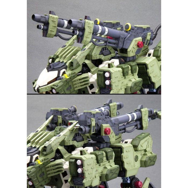 Kotobukiya 1/72 Zoids HMM RZ-041 Liger Zero Panzer Markings Plus Ver main guns close up