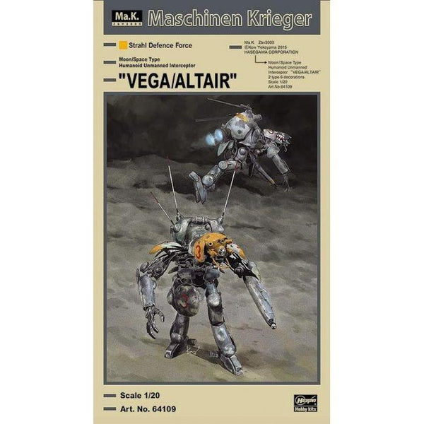 Hasegawa 1/20 Ma.k Lunar Surface/Space Humanoid- Vega/Altair package art