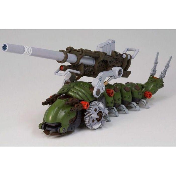 ZOIDS: MOLGA & MOLGA WITH CANORY UNIT front on view.