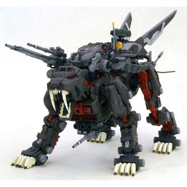 Kotobukiya 1/72 HMM Zoids Great Saber Markings Plus Ver. front on view.