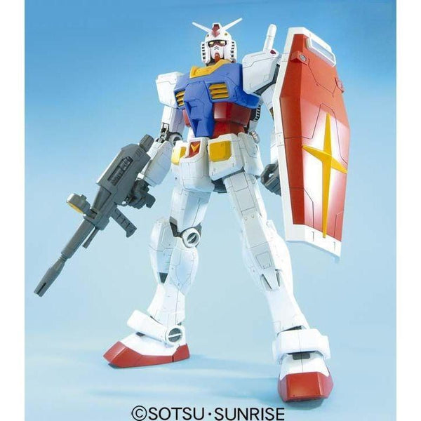 Bandai 1/48 Mega RX-78-2 Gundam front on pose