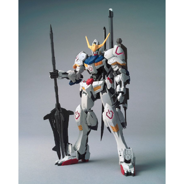 Bandai 1/100 MG Barbatos 4th Form front on view. with backpack