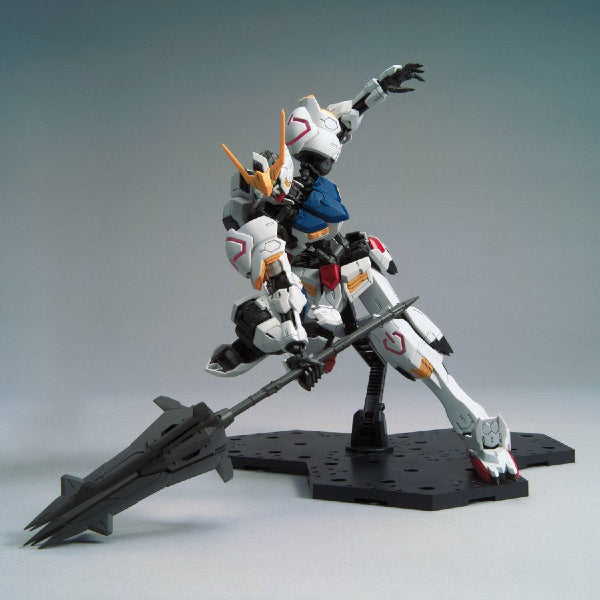 Bandai 1/100 MG Barbatos 4th Form action pose with mace