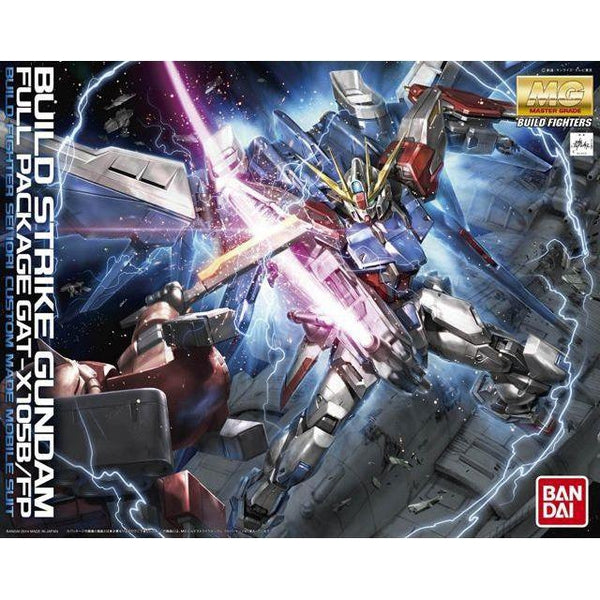 Bandai 1/100 MG GAT-X105B/FB Build Strike Gundam Full Package package art