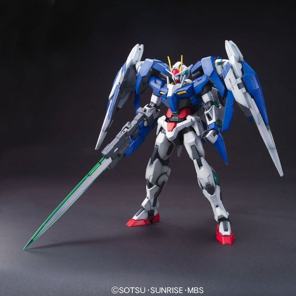 Bandai 1/100 MG 00 Raiser Celestial Being GN-0000+GNR-010 front on pose