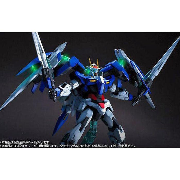 Bandai 1/100 MG 00 Raiser Celestial Being GN-0000+GNR-010 with green LED's