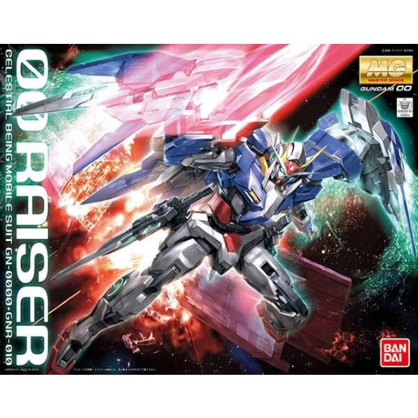 Bandai 1/100 MG 00 Raiser Celestial Being GN-0000+GNR-010 package art