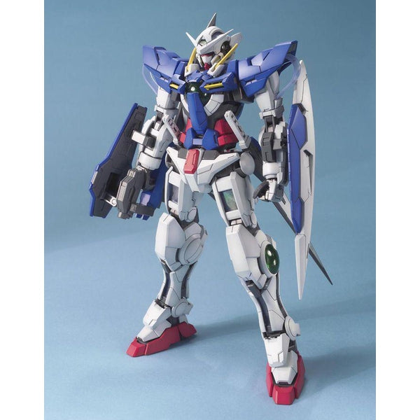 Bandai 1/100 MG Gundam Exia-Celestial Being Mobile Suit  front on view.