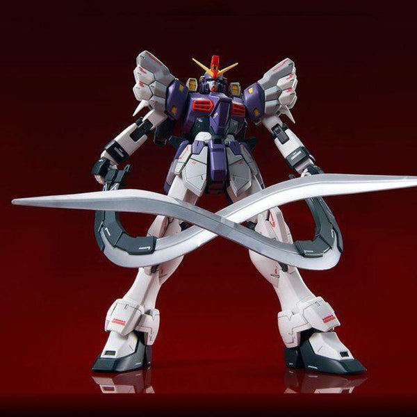 PRE-ORDER P-Bandai MG 1/100 Gundam Sandrock Custom EW [Reissue] front on view.