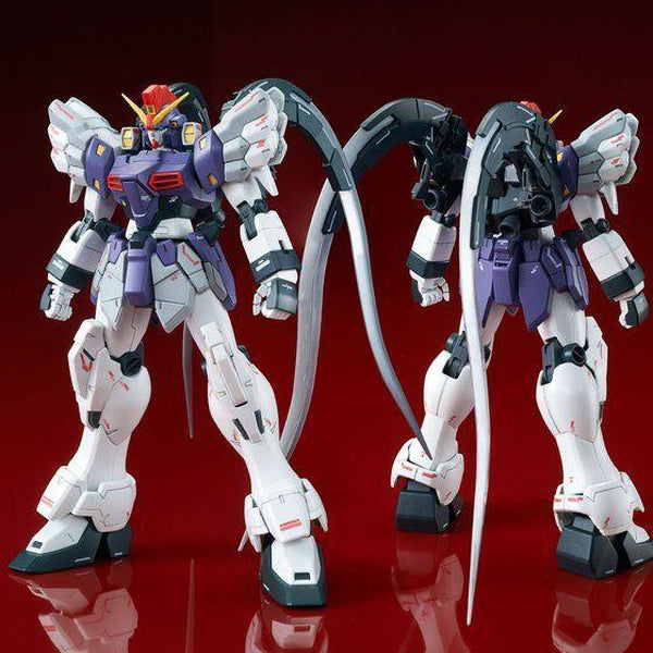 PRE-ORDER P-Bandai MG 1/100 Gundam Sandrock Custom EW [Reissue] front and rear view combo