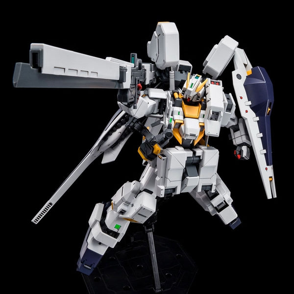 P-Bandai: MG 1/100 Gundam TR-1 [Hazel OWSLA] action pose with weapon.