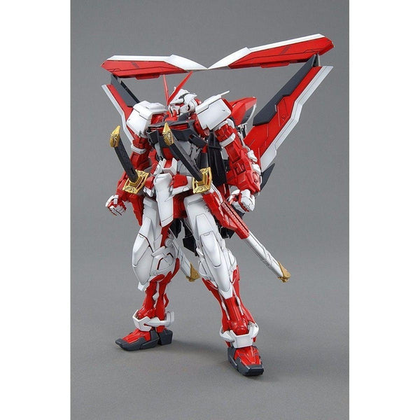 Bandai 1/100 MG MBF-P02KAI Gundam Astray Red Frame Kai front on pose