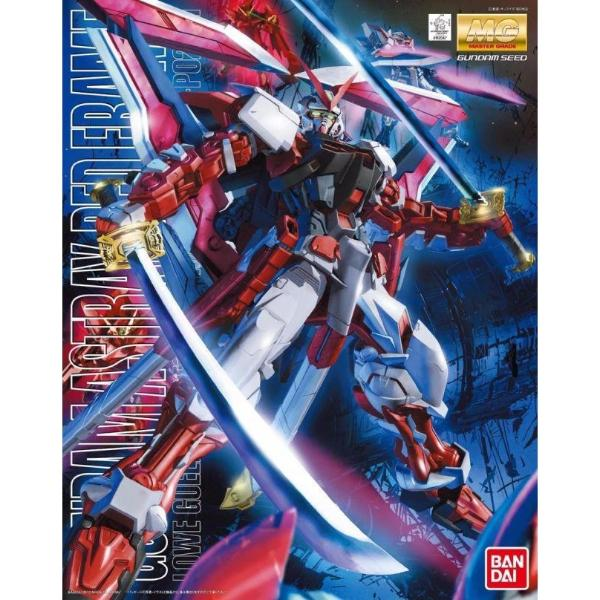 Bandai 1/100 MG MBF-P02KAI Gundam Astray Red Frame Kai package art
