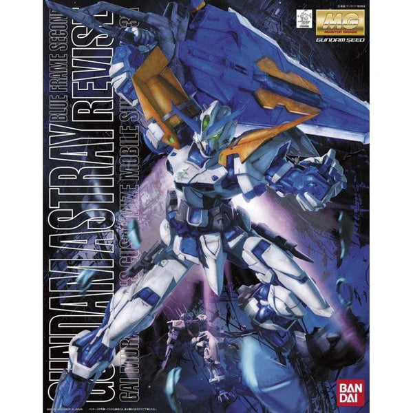 Bandai 1/100 MG MBF-P03 Gundam Astray Blue Frame 2nd Revise package art