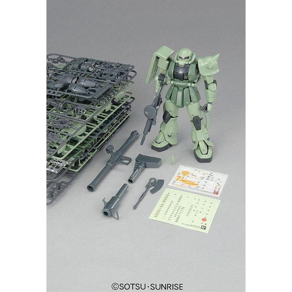 Bandai 1/100 MG MS-06F Zaku II Ver 2.0 what you get