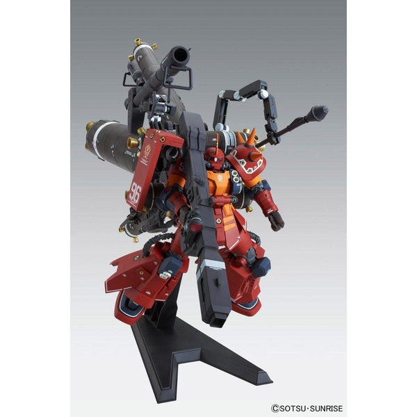 "Bandai 1/100 MG MS-06R Zaku II High Mobility Type ""Psycho Zaku Gundam Thunderbolt Ver Ka action pose front on 1"