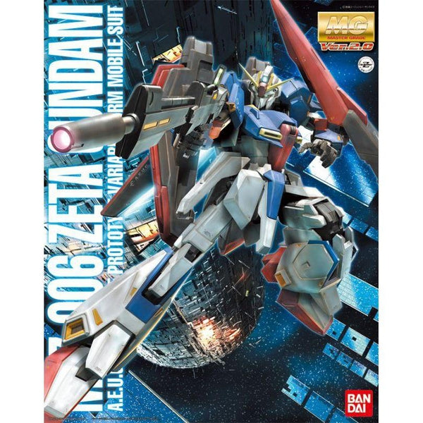 Bandai 1/100 MG MSZ-006 Zeta Gundam Ver 2.0 package artwork