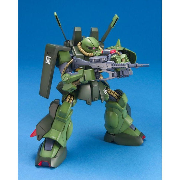 Bandai 1/100 MG RMS-106 Hi-Zack action pose with weapon.