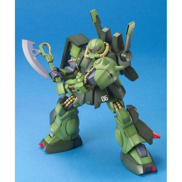 Bandai 1/100 MG RMS-106 Hi-Zack action pose with weapon. 2