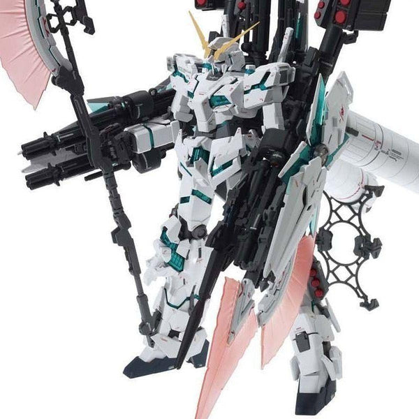 Bandai 1/100 MG RX-0 Full Armour Unicorn Ver.Ka front view with weapons