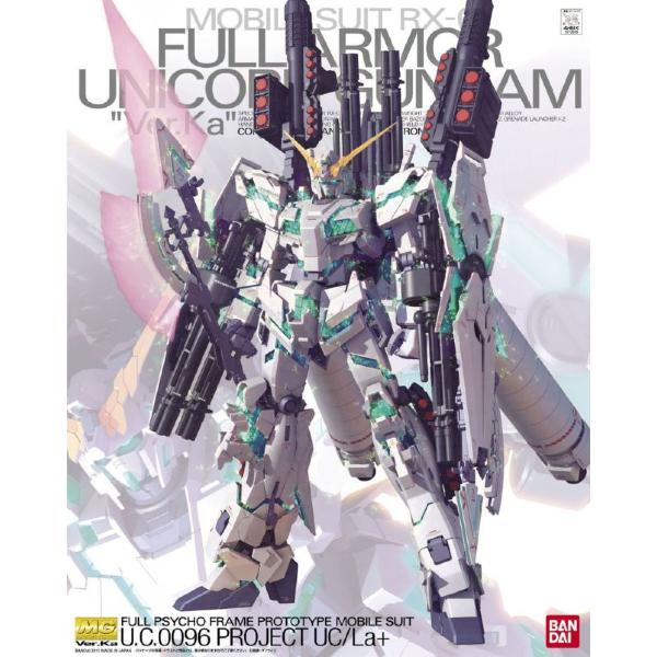 Bandai 1/100 MG RX-0 Full Armour Unicorn Ver.Ka package art