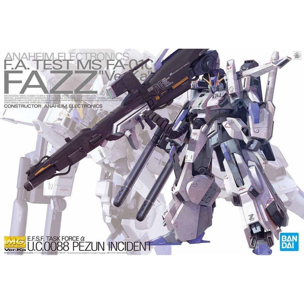 Bandai 1/100 MG FA-010A Fazz Ver.Ka  package artwork