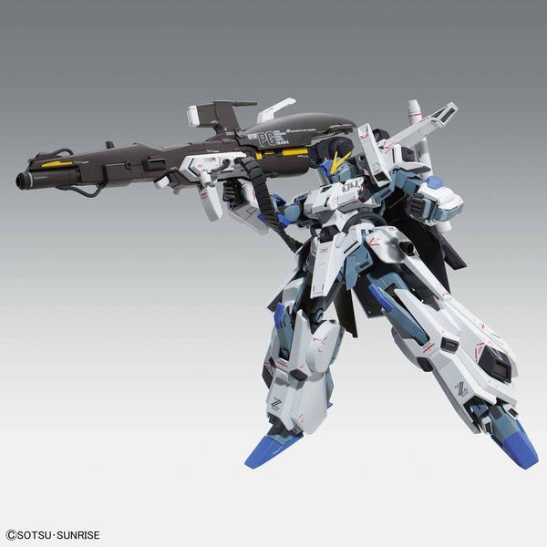 Bandai 1/100 MG FA-010A Fazz Ver.Ka action pose with weapon beam rifle